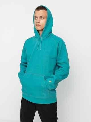 Carhartt WIP Hanorac cu glugu0103 Chase HD (frosted turquoise/gold)