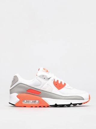 Nike Pantofi Air Max 90 (white/white hyper orange lt smoke grey)