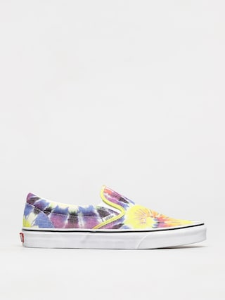 Vans Pantofi Classic Slip On (washed/tie dye/true wht)