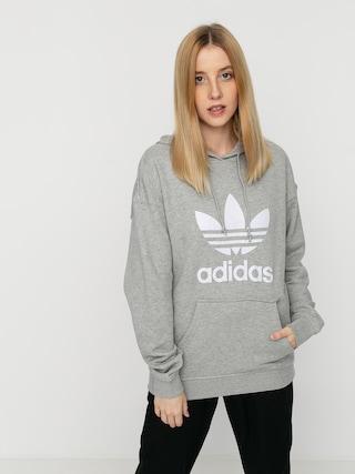 Hanorac cu glugu0103 adidas Originals Trf HD Wmn (mgreyh/white)