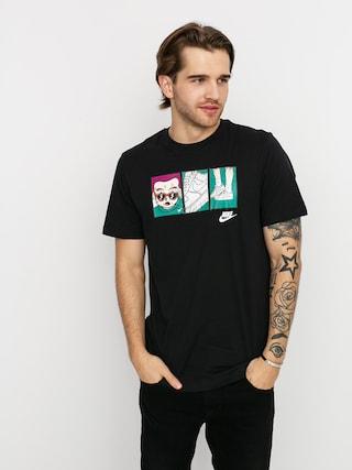 Nike Tricou Sportswear Sneaker (black/white)
