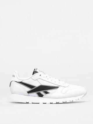 Pantofi Reebok Classic Leather (white/black/msilve)
