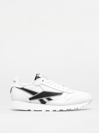 Reebok Pantofi Classic Leather (white/black/msilve)