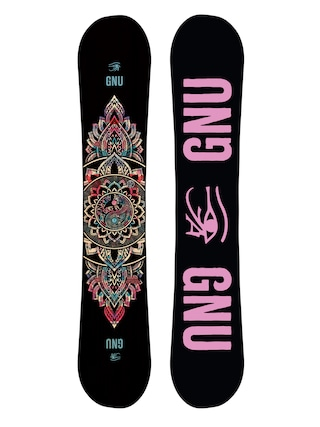 Gnu Snowboard Ladies Choice Wmn (black/pink)