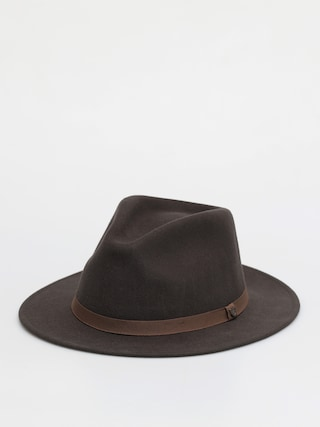 Brixton Pu0103lu0103rie Messer Packable Fedora (washed black/light brown)