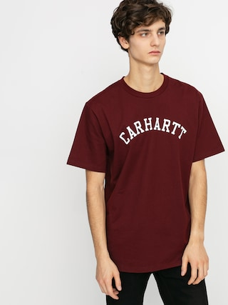 Carhartt WIP Tricou University (bordeaux/white)
