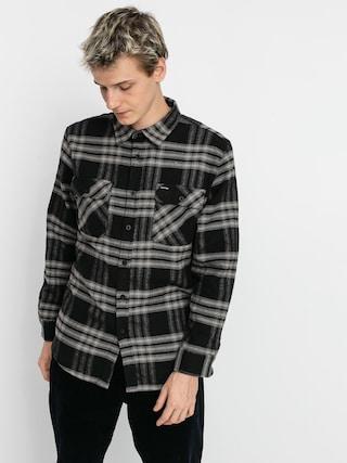 Cu0103mau0219u0103 Brixton Bowery Flannel Ls (black/charcoal)