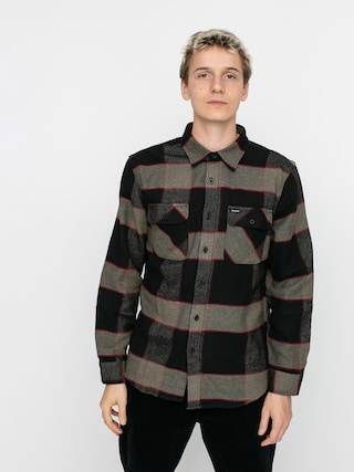 Brixton Cu0103mau0219u0103 Bowery Flannel Ls (heather grey/charcoal)