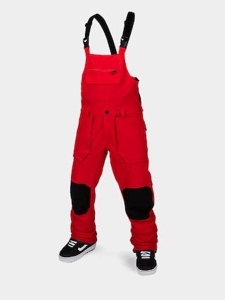 Pantaloni pentru snowboard Volcom Roan Bib Overall (red)