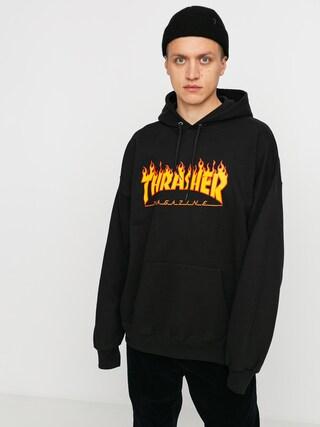 Hanorac cu glugă Thrasher Flame HD (black)