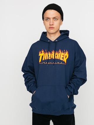 Hanorac cu glugu0103 Thrasher Flame HD (navy)