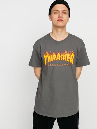 Tricou Thrasher Flame Logo (charcoal)