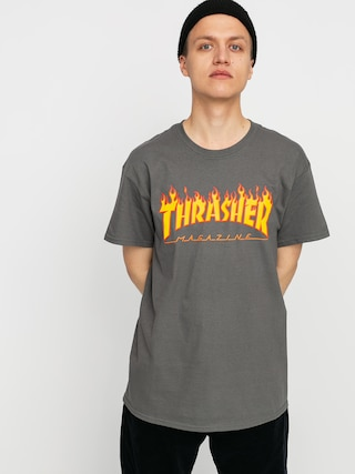 Tricou Thrasher Flame Logo (charcoal grey)
