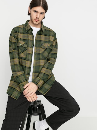 Cu0103mau0219u0103 Brixton Bowery Flannel Ls (evergreen)