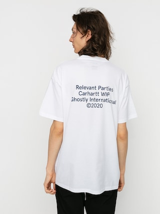 Carhartt WIP Tricou X Relevant Parties Ghostly (white)