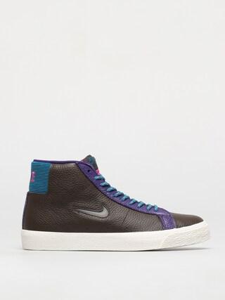 Pantofi Nike SB Zoom Blazer Mid Premium (baroque brown/white green abyss)
