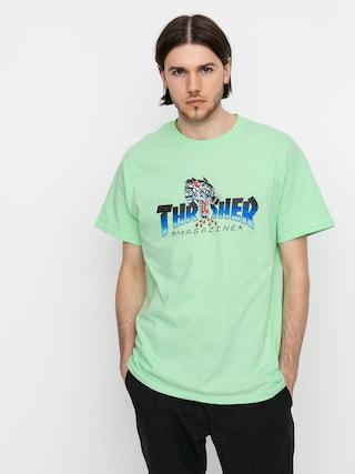 Thrasher Tricou Leopard Mag (mint)