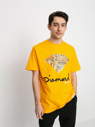 Diamond Supply Co. Tricou Ethiopian Diamond (gold)