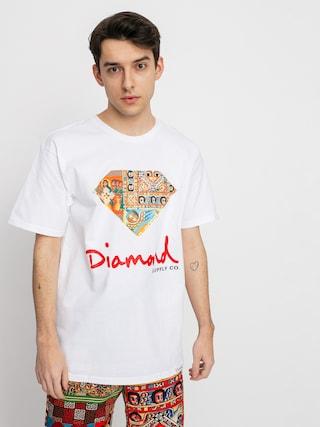 Diamond Supply Co. Tricou Ethiopian Diamond (white)