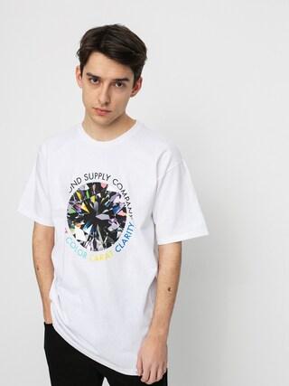 Diamond Supply Co. Tricou Clarity (white)