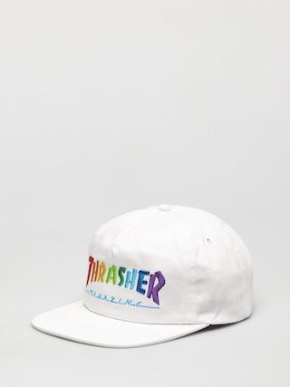 Thrasher u0218apcu0103 Rainbow Mag Snapback ZD (white)