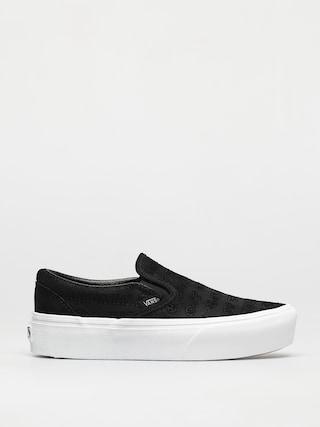 Pantofi Vans Classic Slip On Platform (deboss otw black/black)