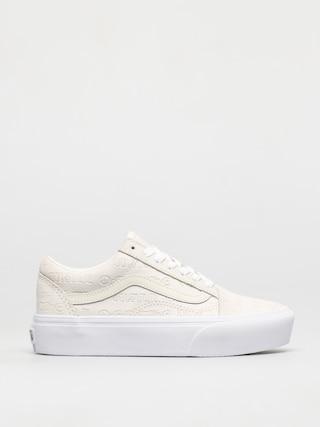Pantofi Vans Old Skool Platform (deboss otw marshmallow/marshmallow)