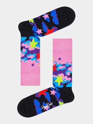 Happy Socks u0218osete Stars (pink/black)
