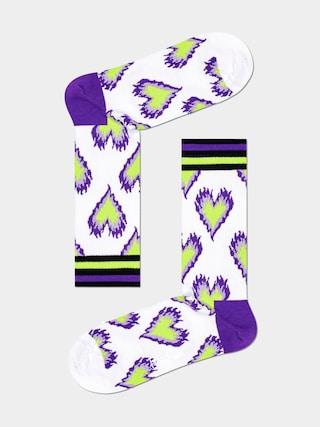 Happy Socks u0218osete Burning Heart Thin (white)
