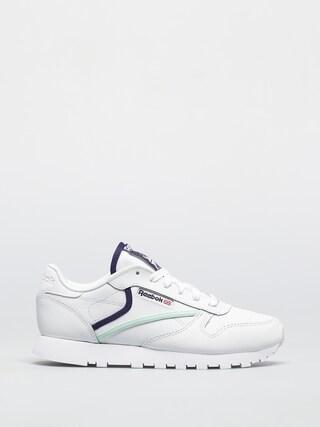 Pantofi Reebok Cl Lthr Wmn (cblack/carbon/vecred)