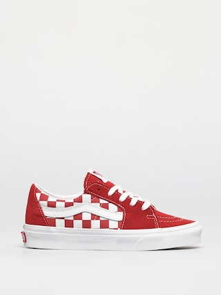 Vans Pantofi Sk8 Low (canvas/suede racing red/checkerboard)