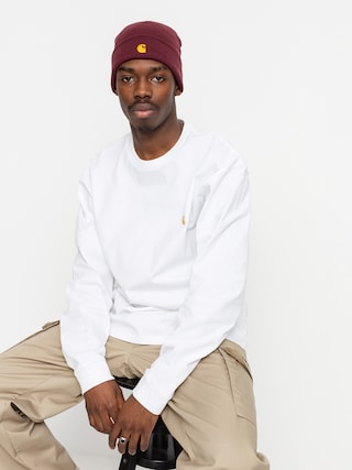 Tricou Carhartt WIP Chase (white/gold)