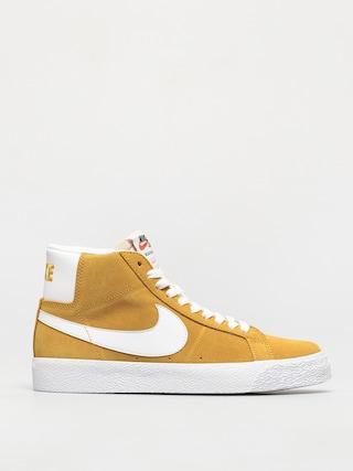 Pantofi Nike SB Zoom Blazer Mid (university gold/white university gold)