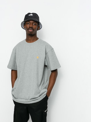 Carhartt WIP Tricou Chase (grey heather/gold)