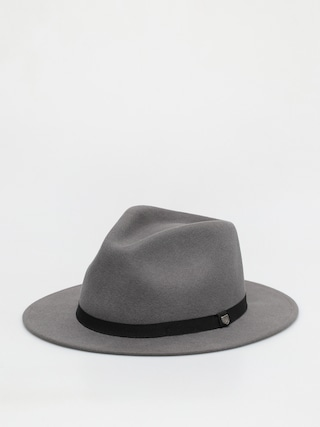 Brixton Pu0103lu0103rie Messer Packable Fedora (charcoal)