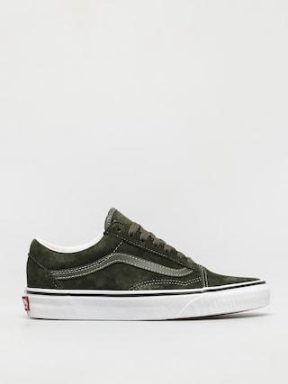 Pantofi Vans Old Skool (pig suede olive/true white)