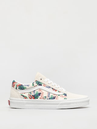 Vans Pantofi Old Skool (spring daze jungle/marshmallow)