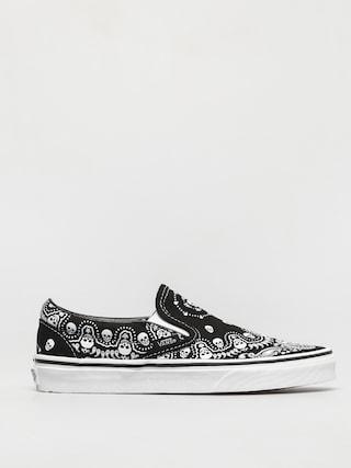 Pantofi Vans Classic Slip On (bandana black/true white)