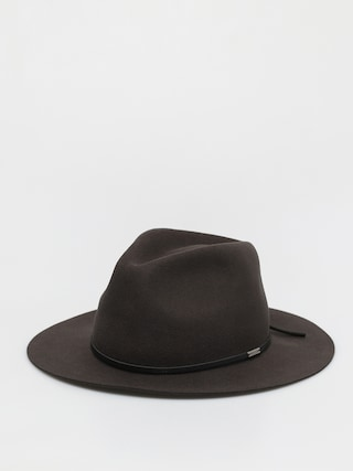 Pu0103lu0103rie Brixton Wesley Packable Fedora (washed black)