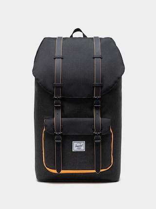 Herschel Supply Co. Rucsac Little America (black crosshatch/black/blazing orange)
