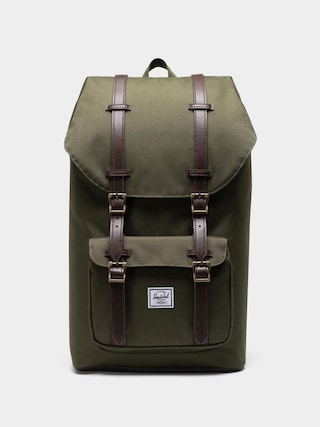 Rucsac Herschel Supply Co. Little America (ivy green/chicory coffee straps)