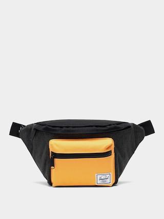 Herschel Supply Co. Borsetu0103 de bru00e2u Seventeen (black crosshatch/black/blazing orange)