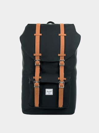 Rucsac Herschel Supply Co. Little America (black/tan synthetic leather)