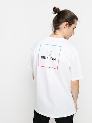 Brixton Tricou Alpha Square Stt (white/light blue/pink)