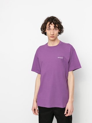 Tricou Carhartt WIP Script Embroidery (aster/white)
