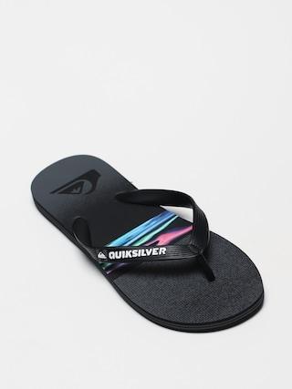 papuci de plaju0103 Quiksilver Molokai Hold Down (black/grey/black)