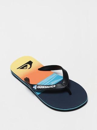 papuci de plaju0103 Quiksilver Molokai Hold Down (black/blue/blue)