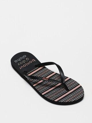 papuci de plaju0103 Roxy Viva Stamp II Wmn (black)