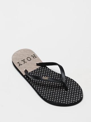 papuci de plaju0103 Roxy Viva Stamp II Wmn (black/black/black print)