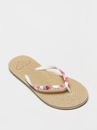 papuci de plaju0103 Roxy South Beach II Wmn (white ringer)